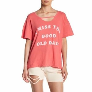 NWT Wildfox Old Days Graphic Print Tee